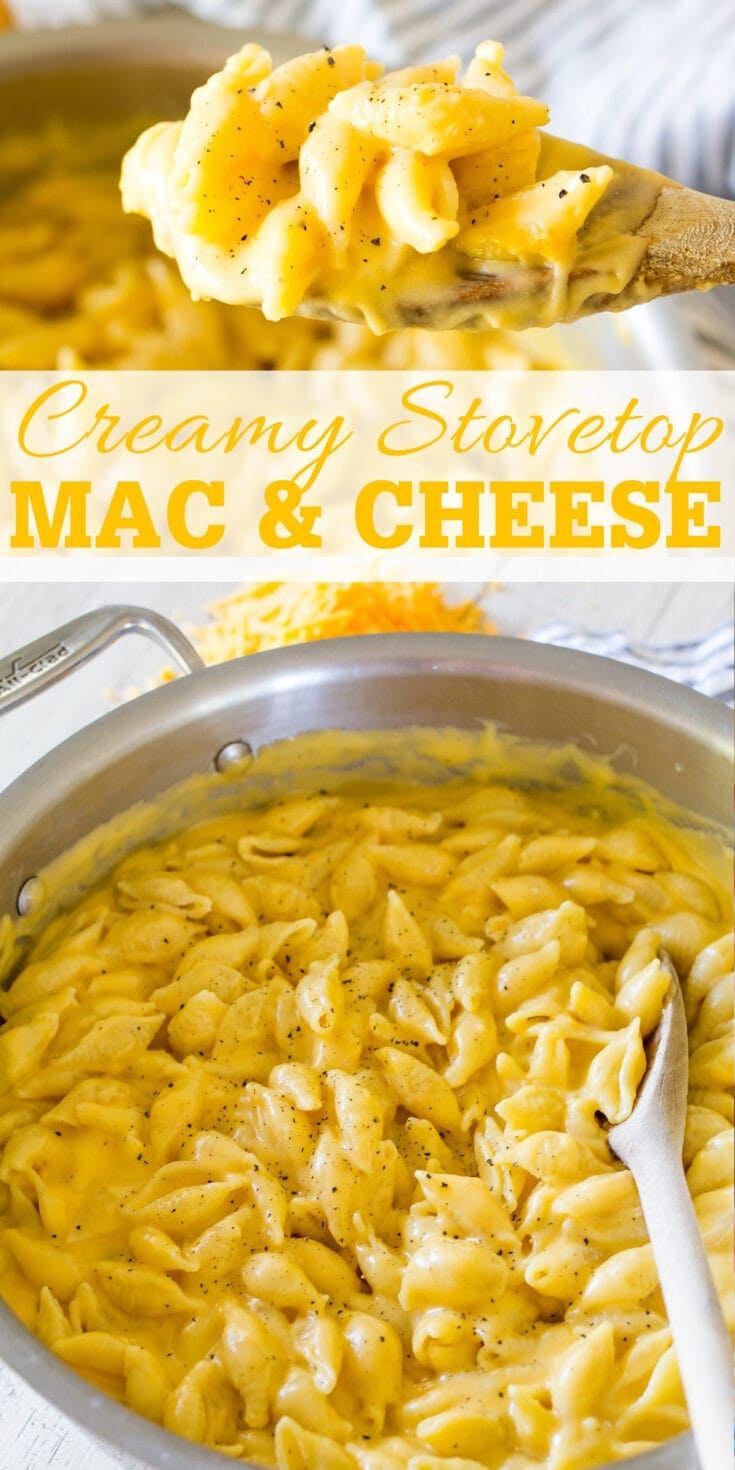 Easy Creamy Stovetop Mac and Cheese comes together in a flash on the stovetop and is the ultimate family friendly side dish.