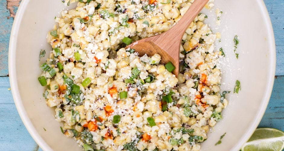 Grilled Mexican Street Corn Salad (Esquites) Recipe