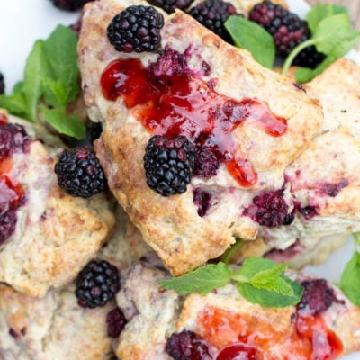 Brown Sugar Blackberry Scones