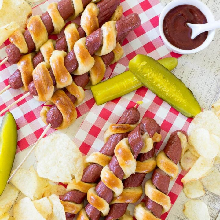 Easy 2 Ingredient Tornado Hot Dogs