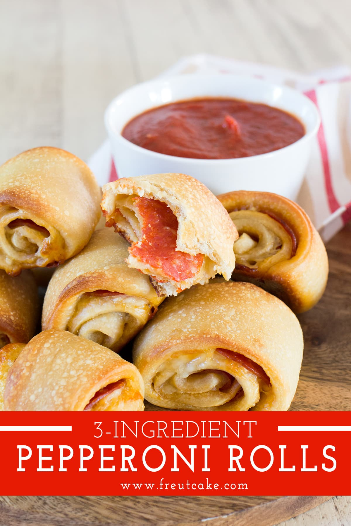 Easy 3 Ingredient Pepperoni Rolls