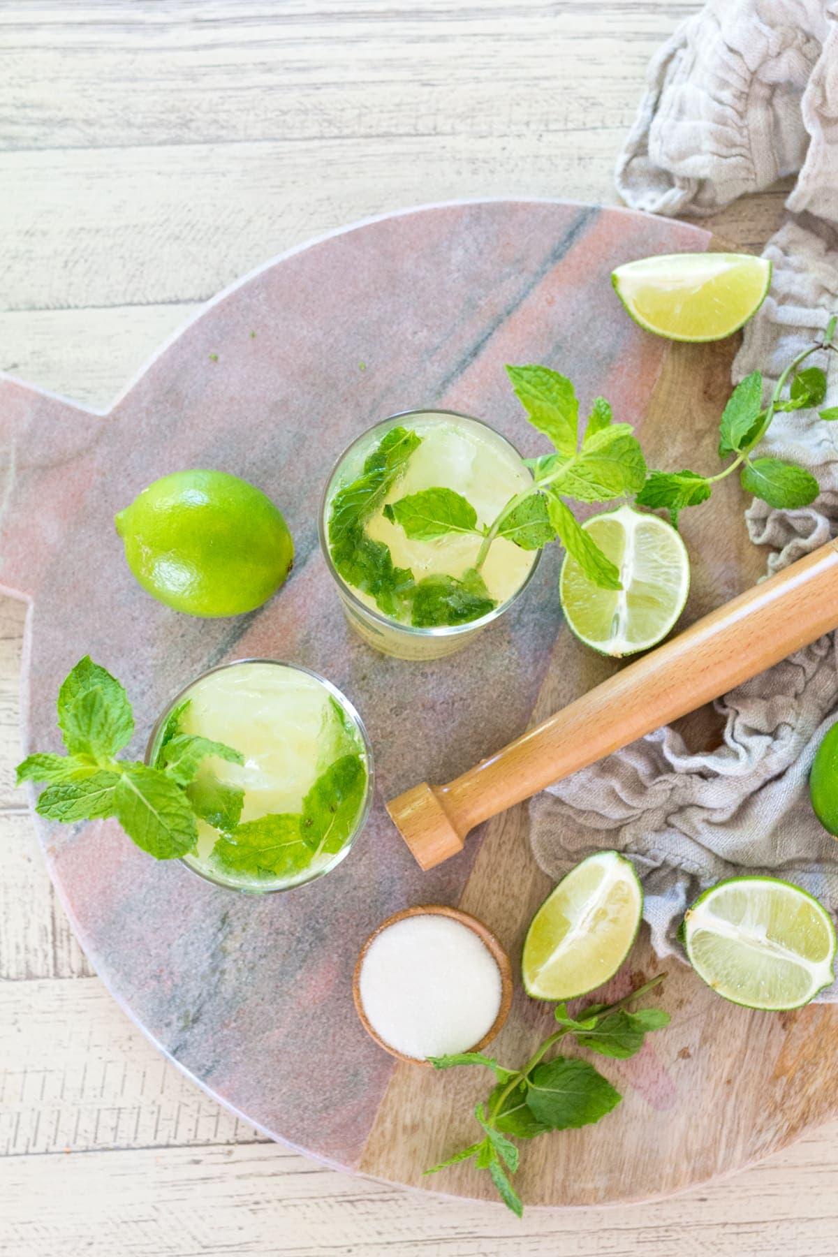 Kombucha Mojito Cocktail Recipe