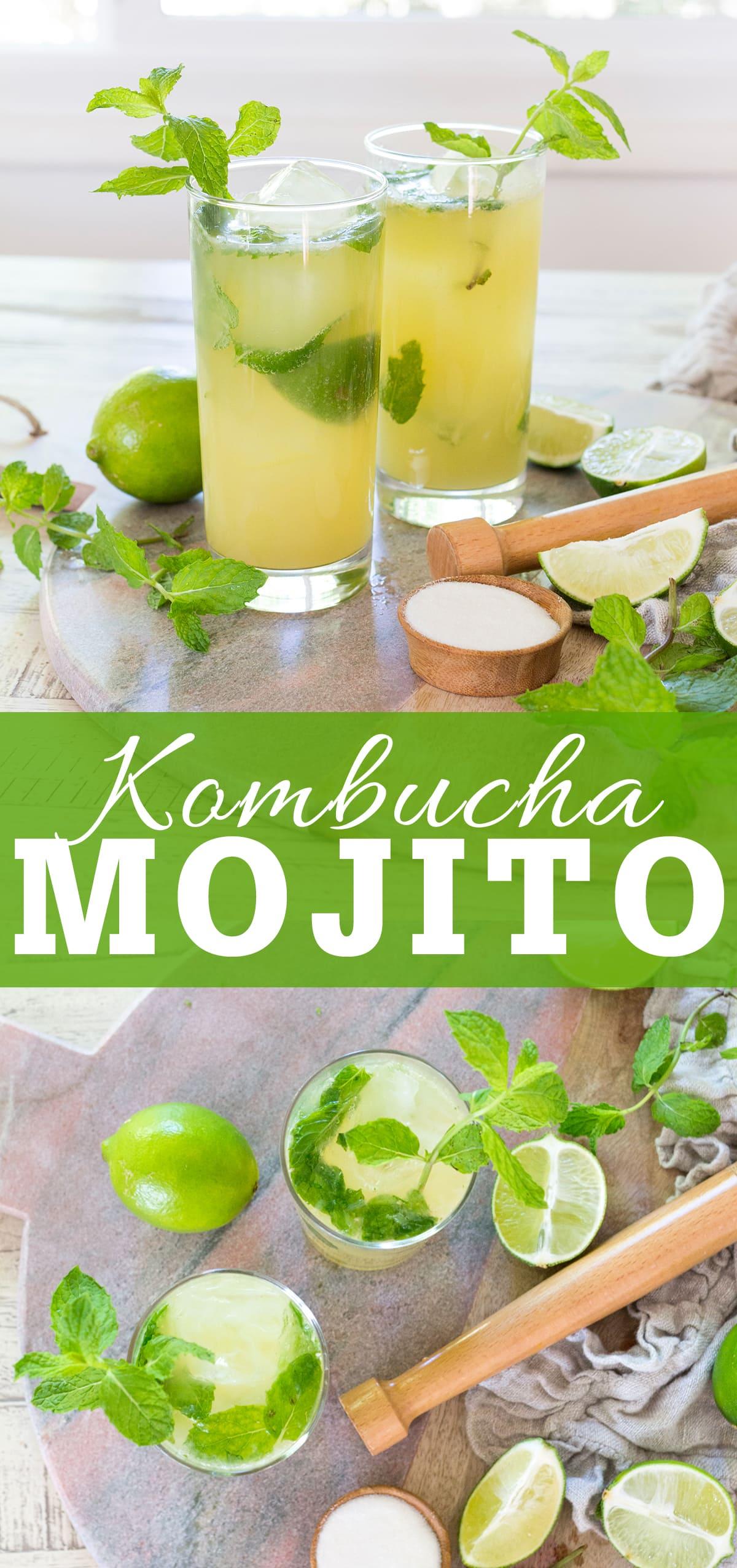 Kombucha Mojito Cocktails