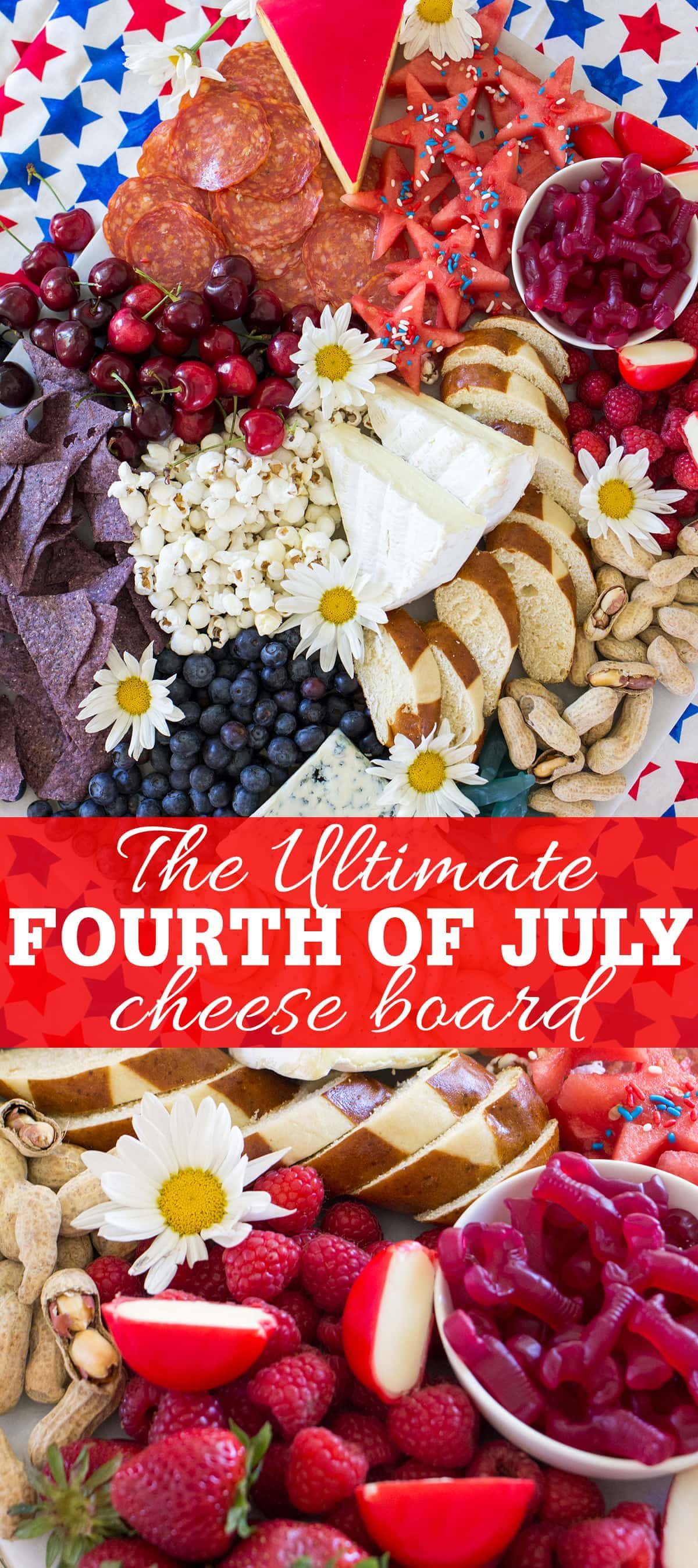 The ultimate 4th of July Cheese Board