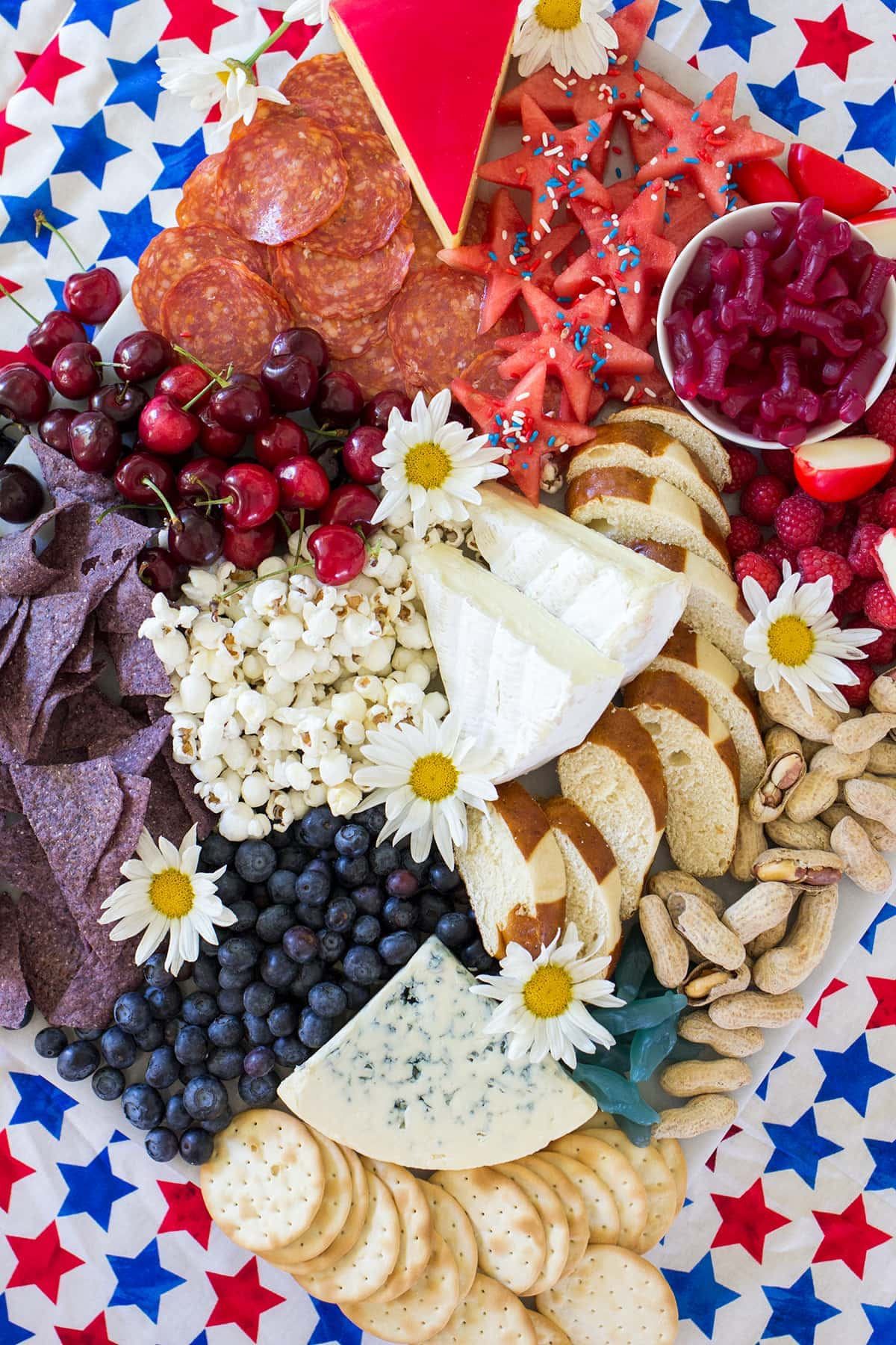 The Ultimate Red White and Blue 4th of July Cheese Board