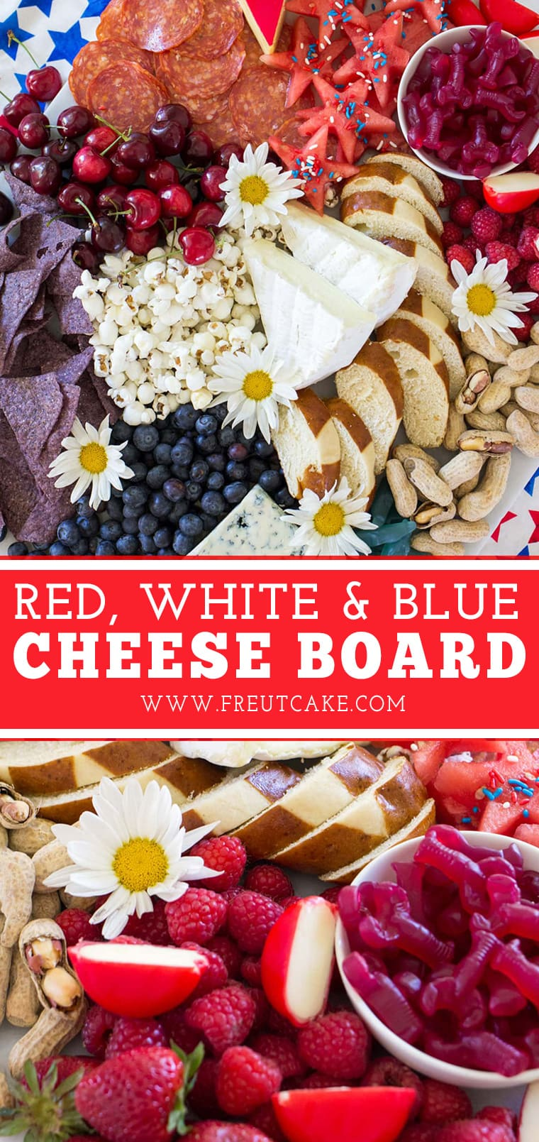 The Ultimate Red, White and Blue Cheese Board