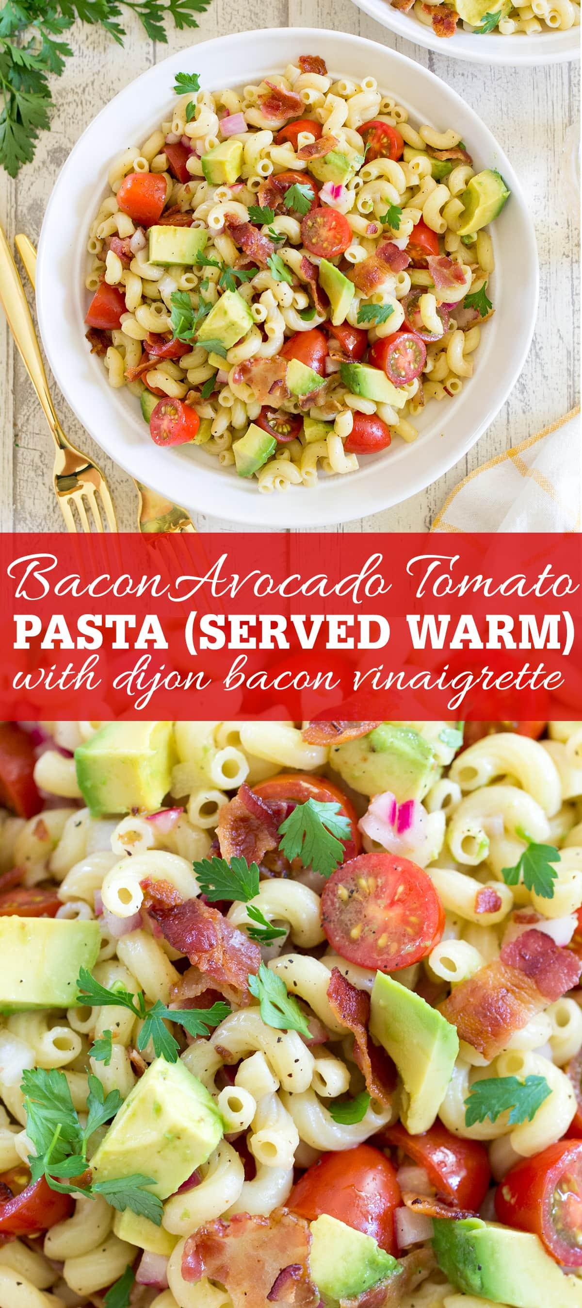 Bacon Avocado Tomato Pasta