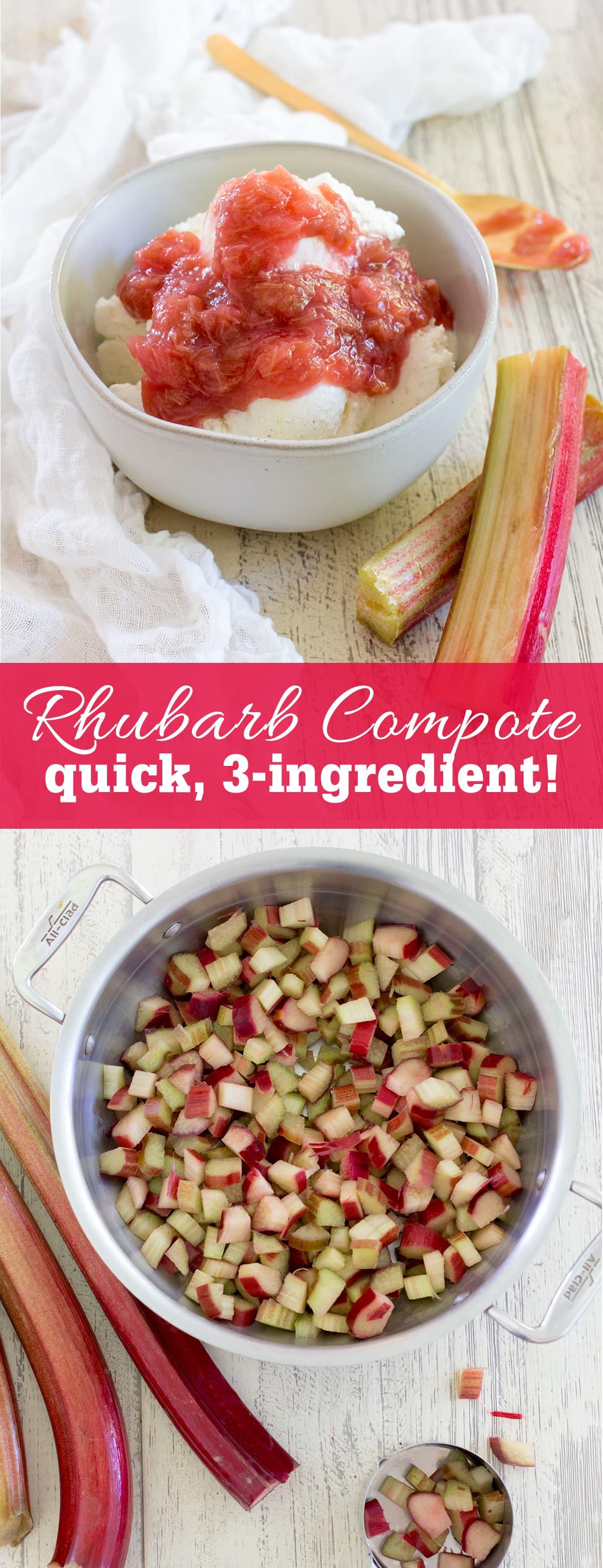 Quick Three Ingredient Rhubarb Compote