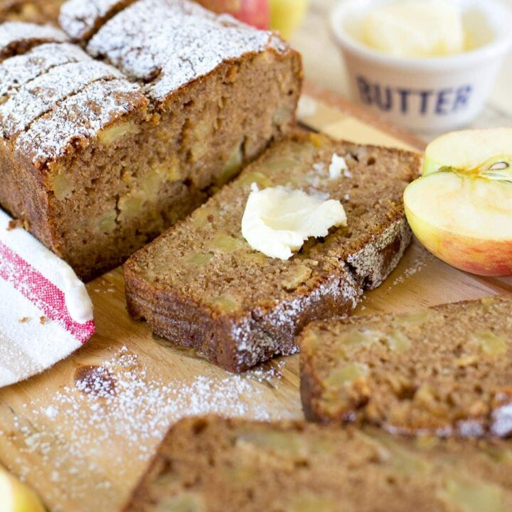 Easy Cinnamon Spice Apple Bread is a moist quick bread packed with chunks of fresh sweet apple and plenty of fall spice flavor.