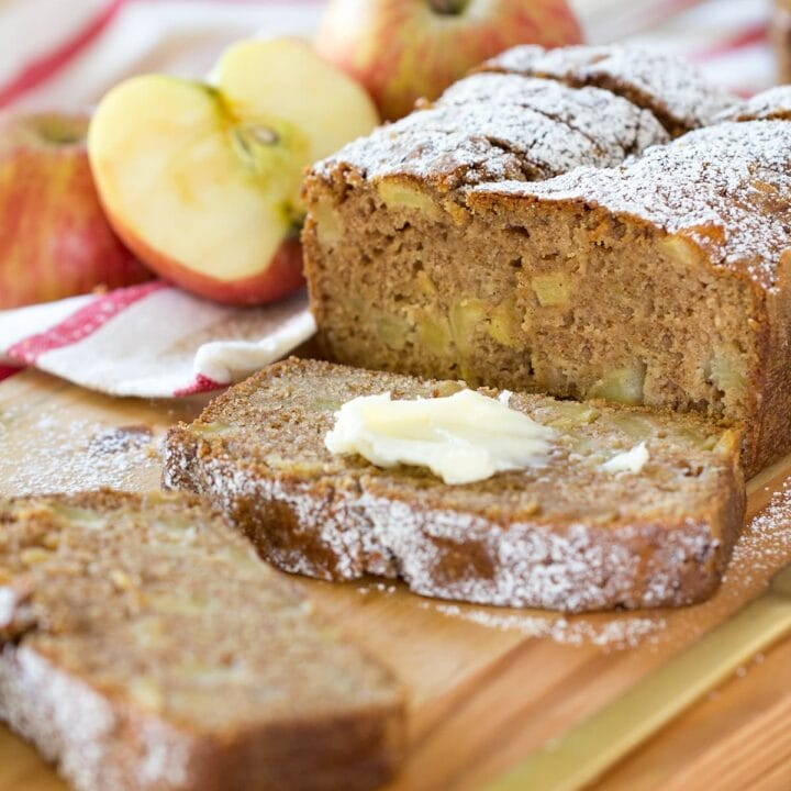 Easy Cinnamon Spice Apple Bread is packed with chunks of fresh sweet apple and plenty of fall spice flavor.