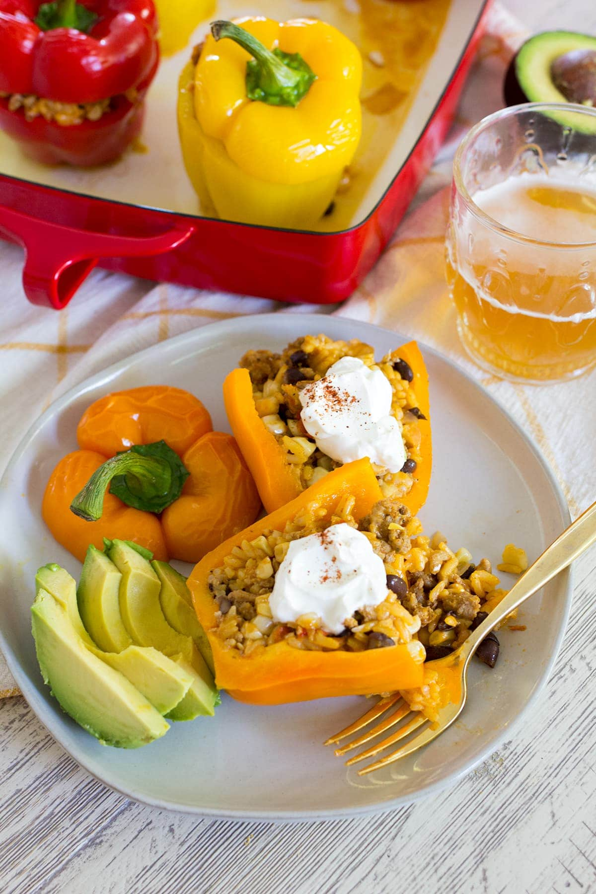 Easy Mexican Stuffed Peppers with Turkey and Rice also known as the best stuffed pepper recipe