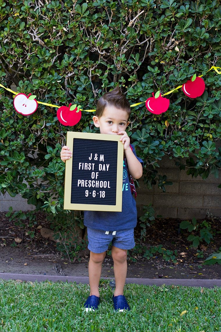 First Day of Preschool Picture