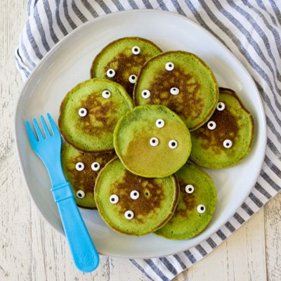 Healthy Halloween Monster Pancakes for Kids