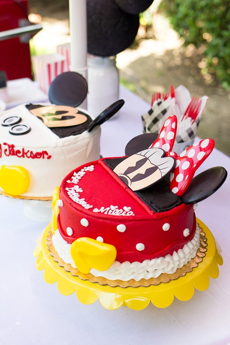 Mickey and Minnie Mouse Themed Third Birthday Party for the Twins plus links to Mickey and Minnie Birthday Party Supplies