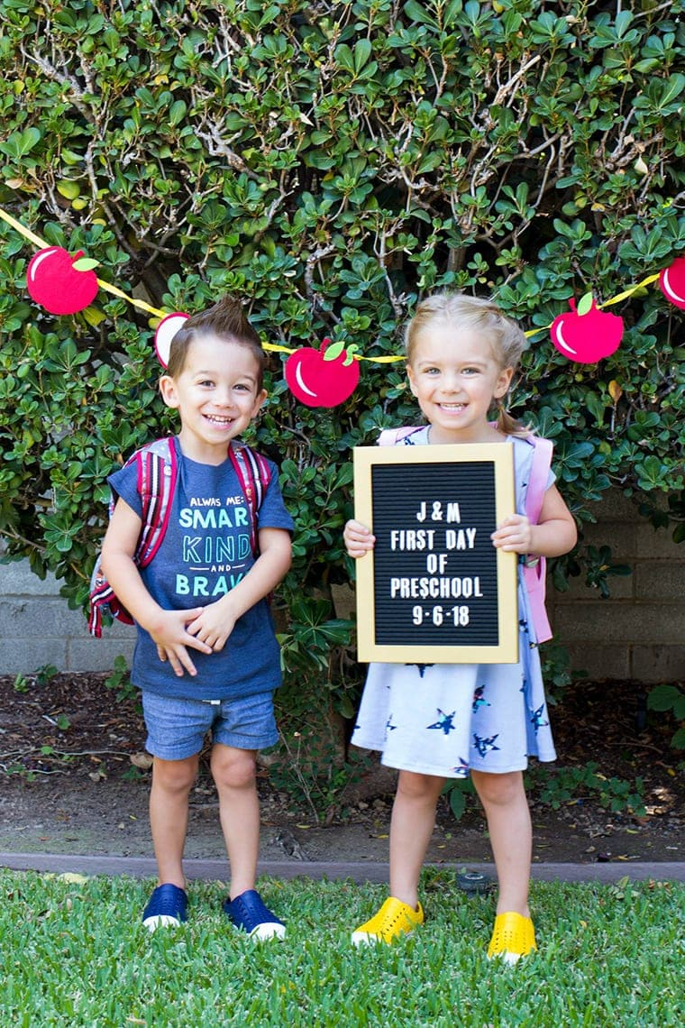 Preschool First Day Picture