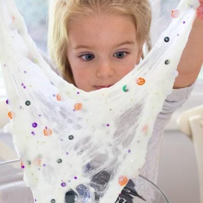 Toddler Safe Halloween Glitter Slime Recipe
