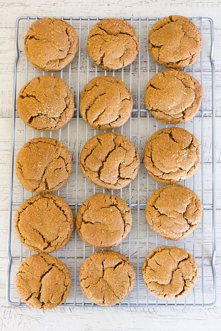 Chewy Ginger Molasses Cookies are the ultimate Christmas cookie packed with holiday spices and flavor.