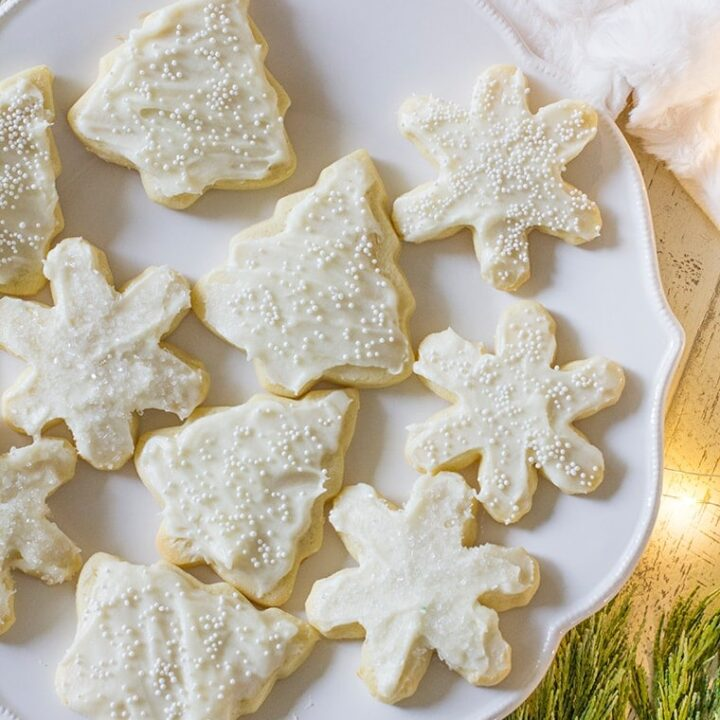 Classic Frosted Cutout Sugar Cookies Recipe Easy to Make with No Spread and Fluffy Cream Cheese Frosting