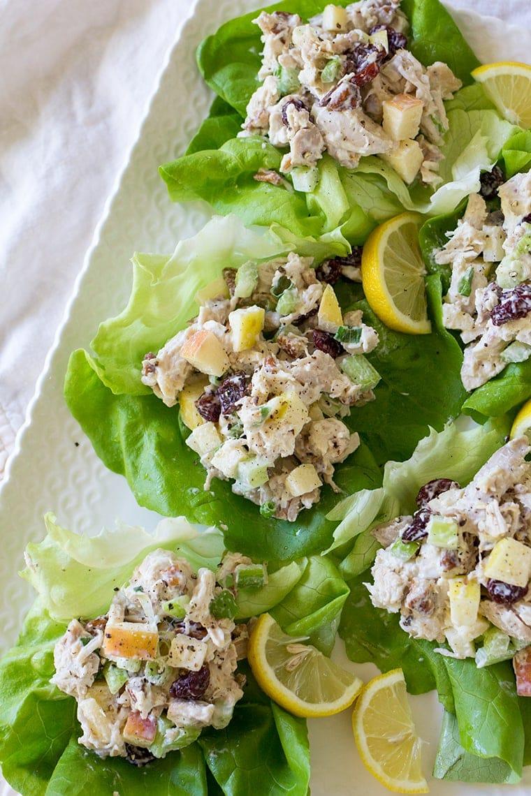 Apple Cherry Chicken Salad Wraps