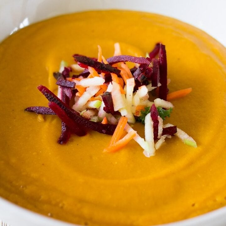 Red Lentil Ginger Carrot Soup