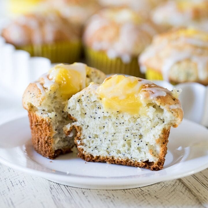 Lemon Poppy Seed Muffins with Lemon Curd Filling