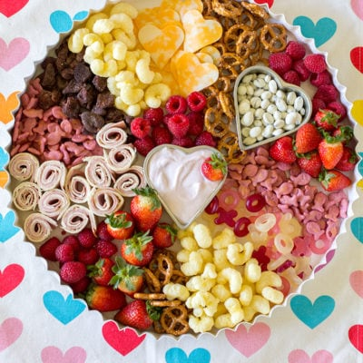 Valentines Day Toddler Snack Board