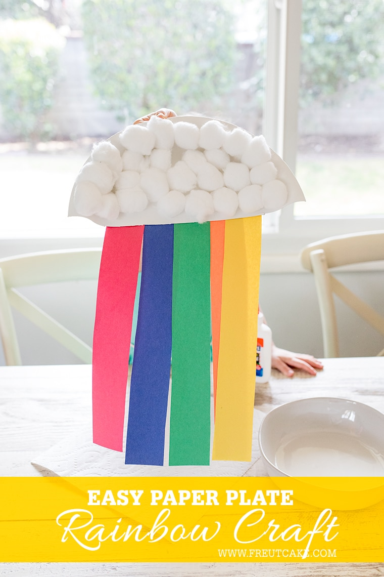 Easy Paper Plate Rainbow Craft for Kids