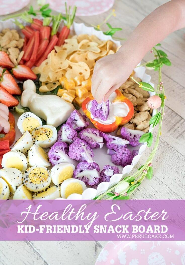 Healthy Easter Toddler Snack Board • Freutcake #charcuterieboard #cheeseboard #easter #easterboard