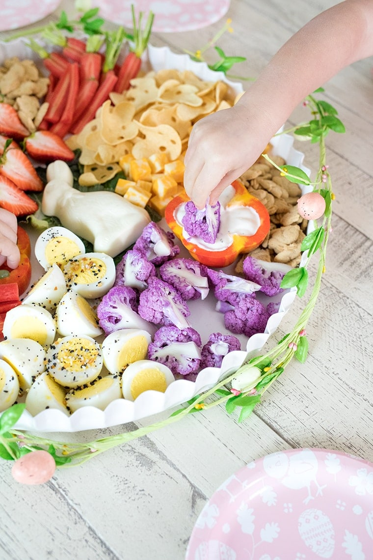 Healthy Easter Toddler Snack Board