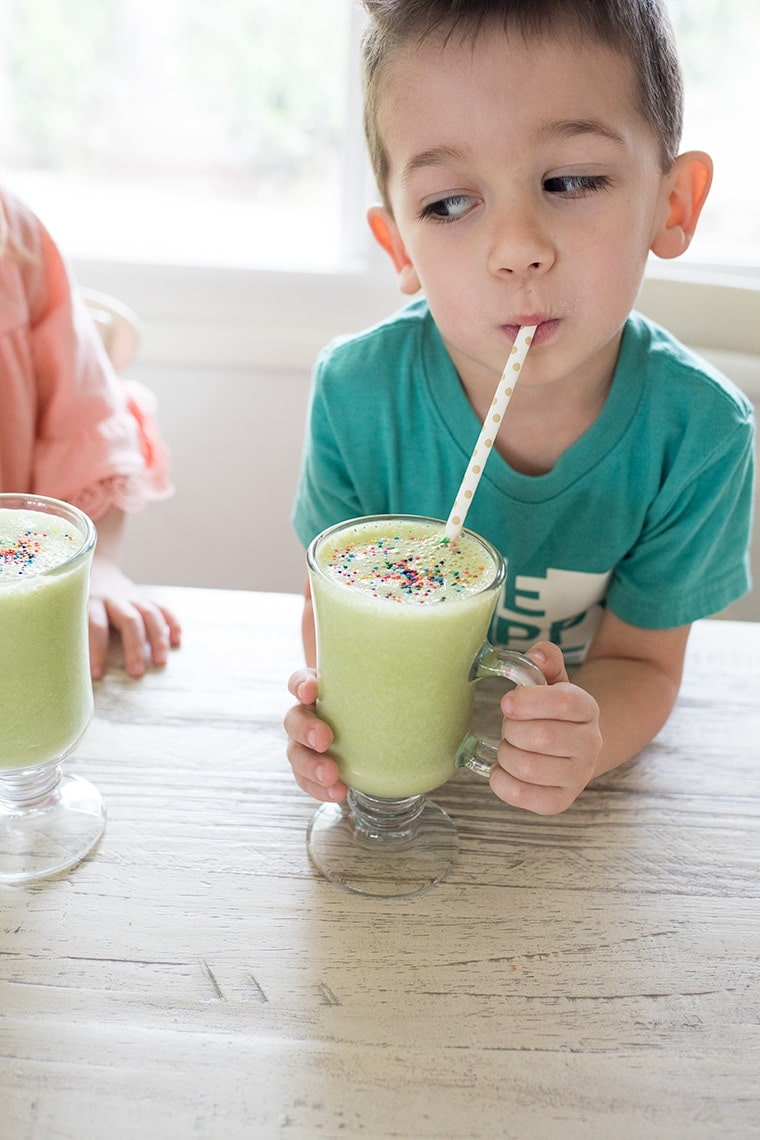 Healthy Shamrock Shake for Kids