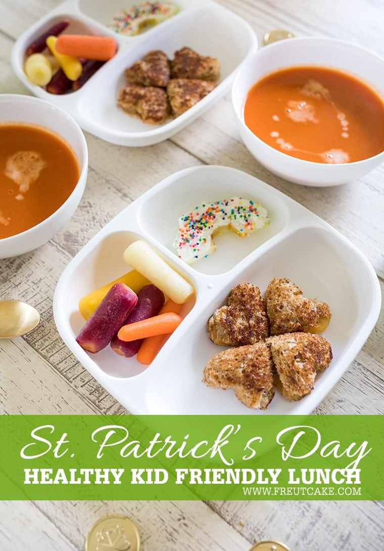 Healthy St Patricks Day Inspired Lunch for Kids #healthy #kidfriendly #toddlermeal #fun #stpatricksday