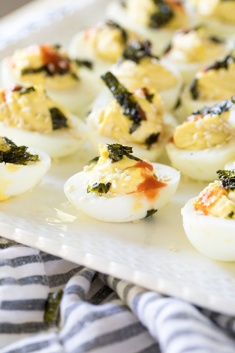 Wasabi Deviled Eggs
