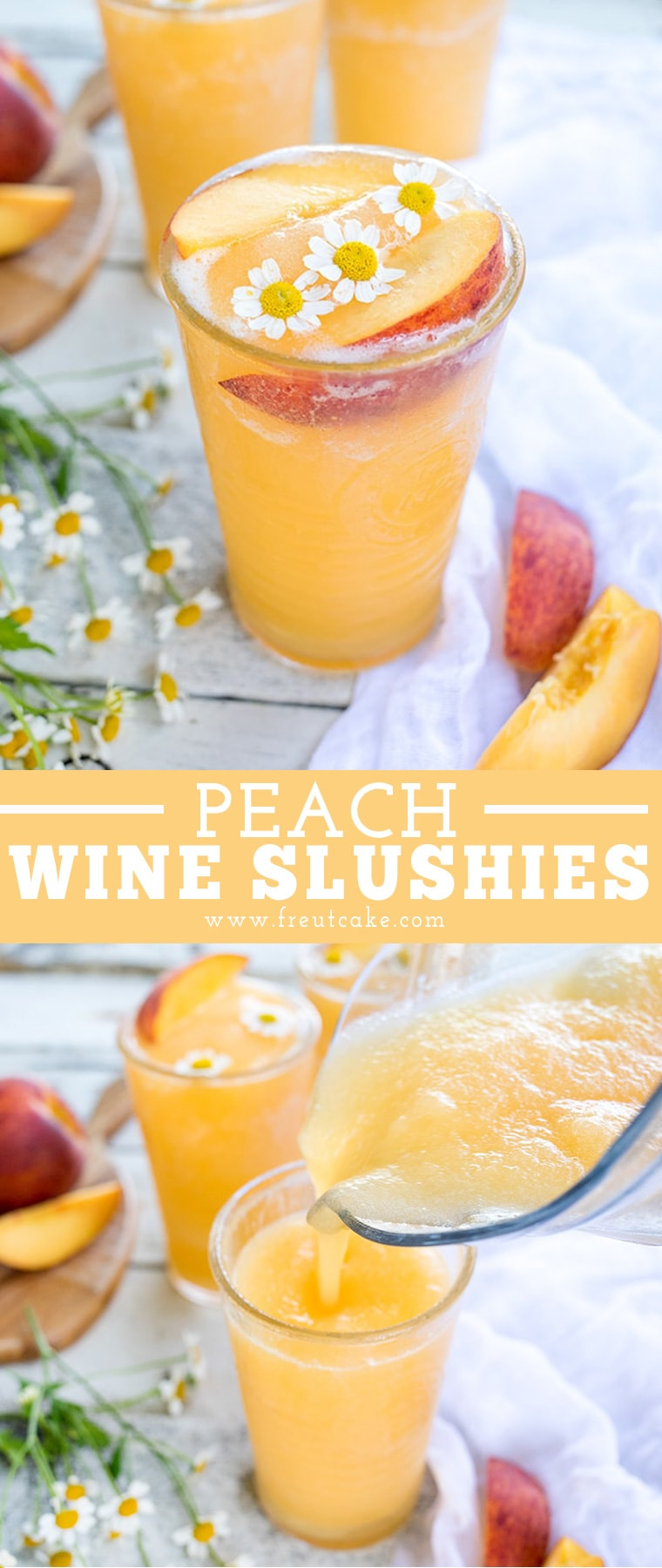 Peach White Wine Slushie Recipe