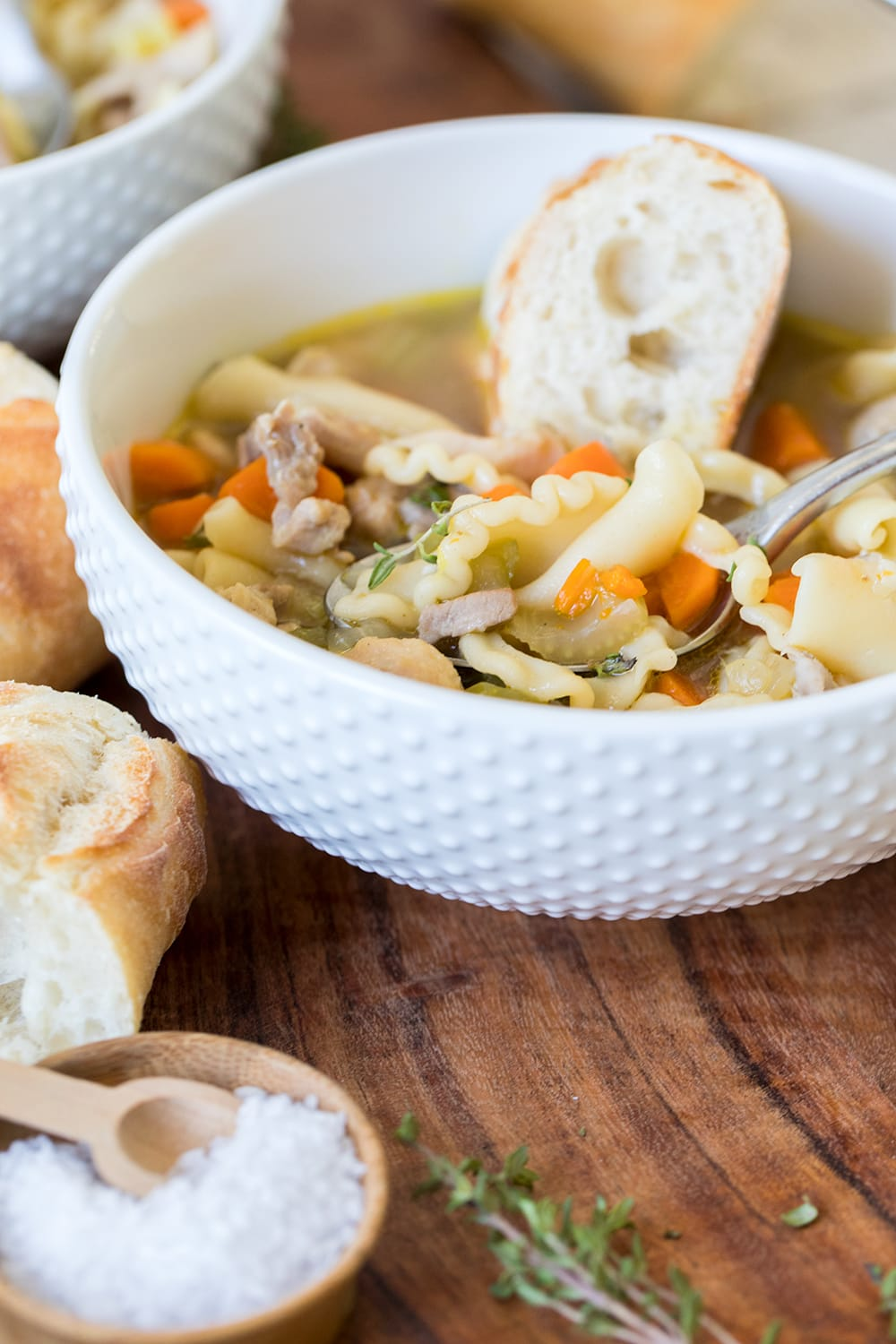 Big Batch Chunky Chicken Noodle Soup