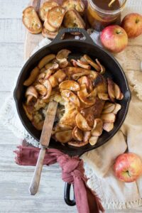 Salted Caramel Apple Baked Brie