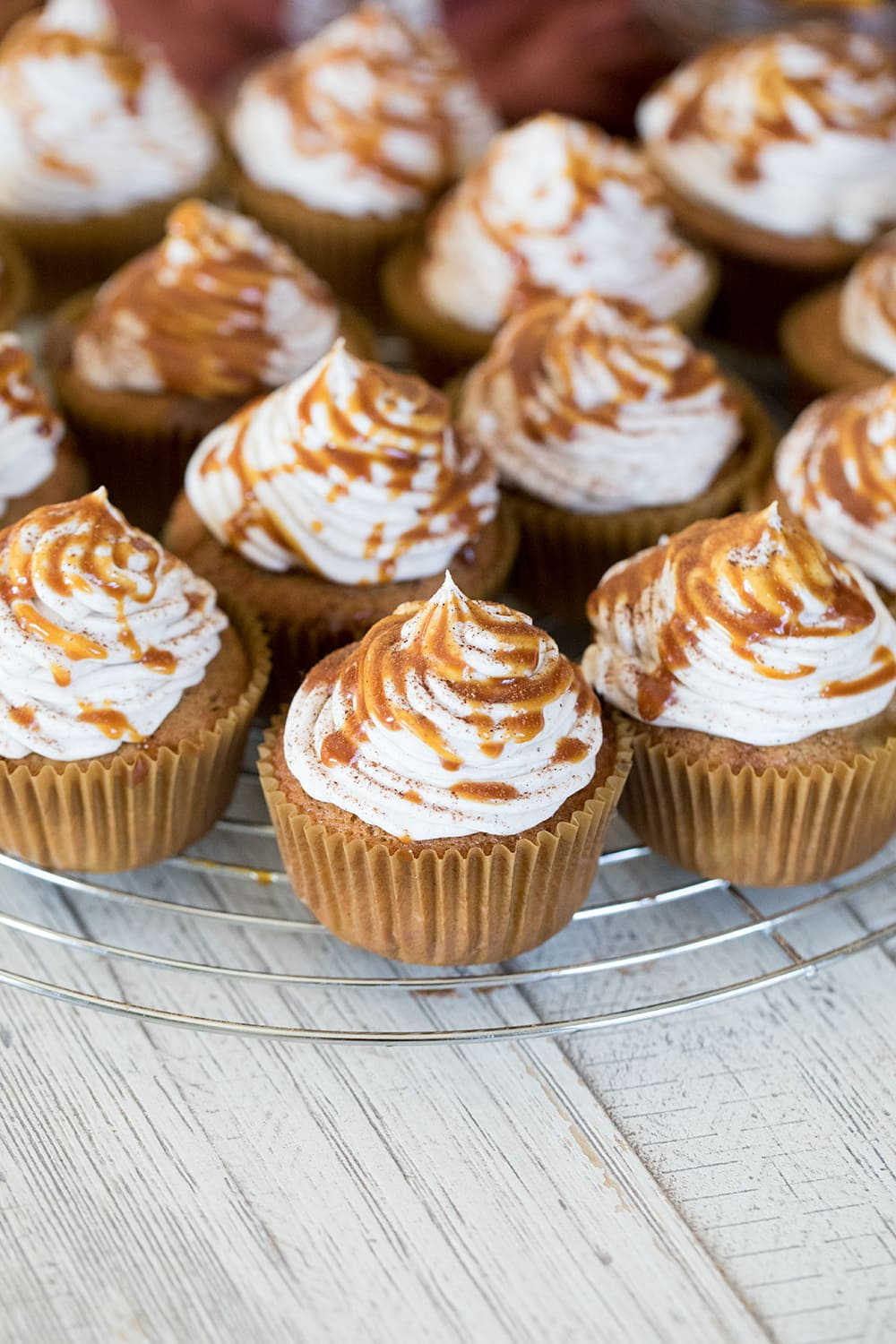 Apple Cider Cupcakes with Cider Buttercream Frosting