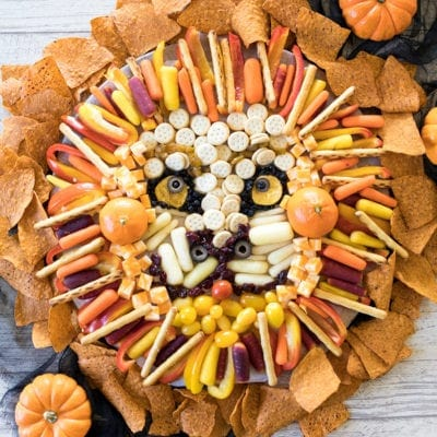 The Lion King Inspired Halloween Snack Board