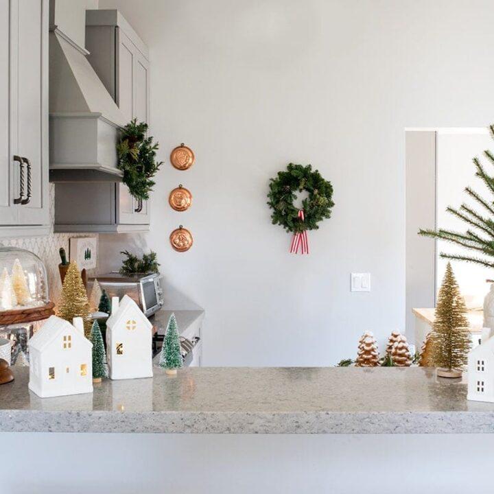 Pine Tree Inspired Christmas Kitchen Decor