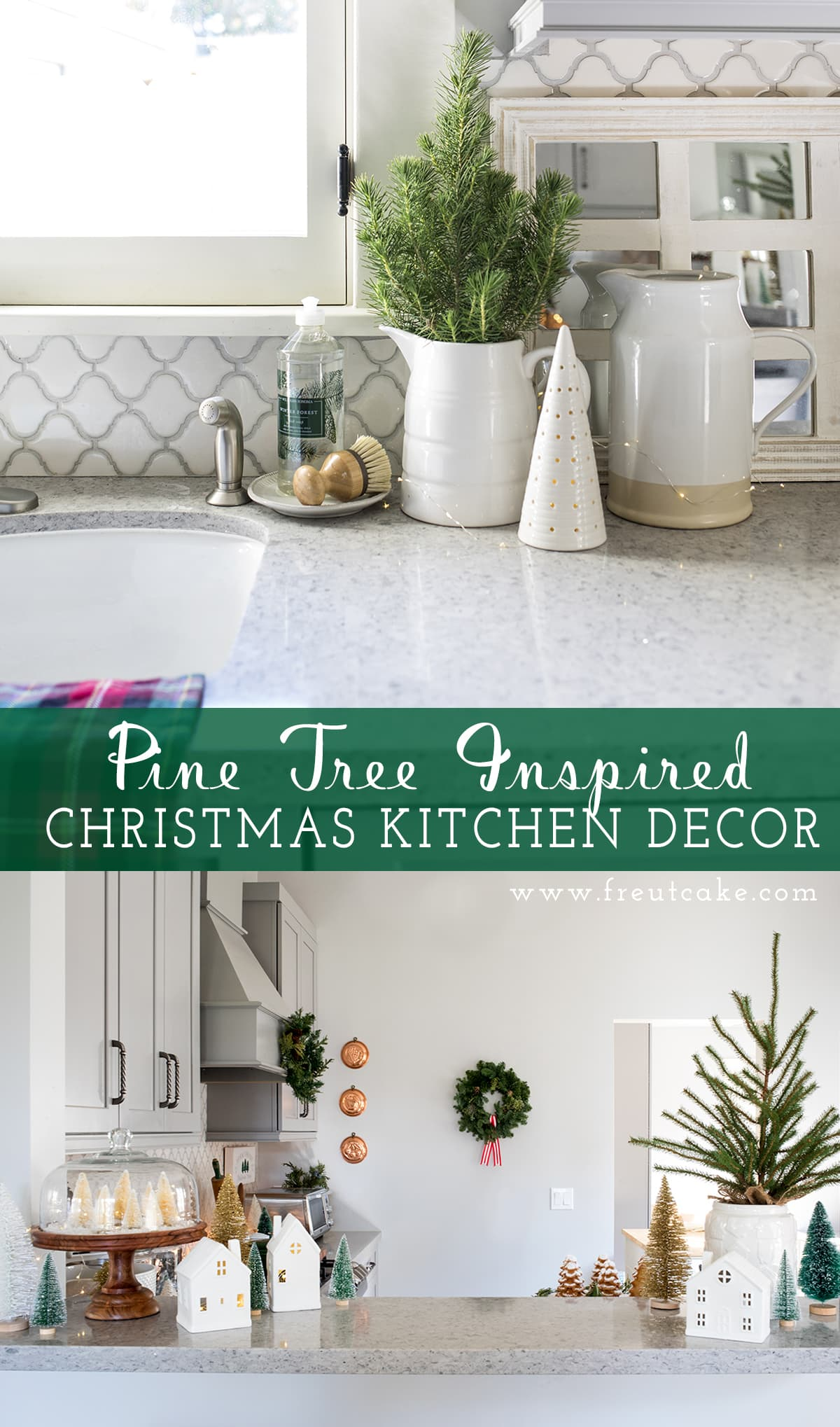 Pine Tree Inspired Christmas Kitchen Decor