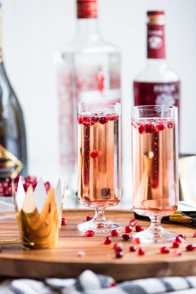 Sparkling Pomegranate French 75