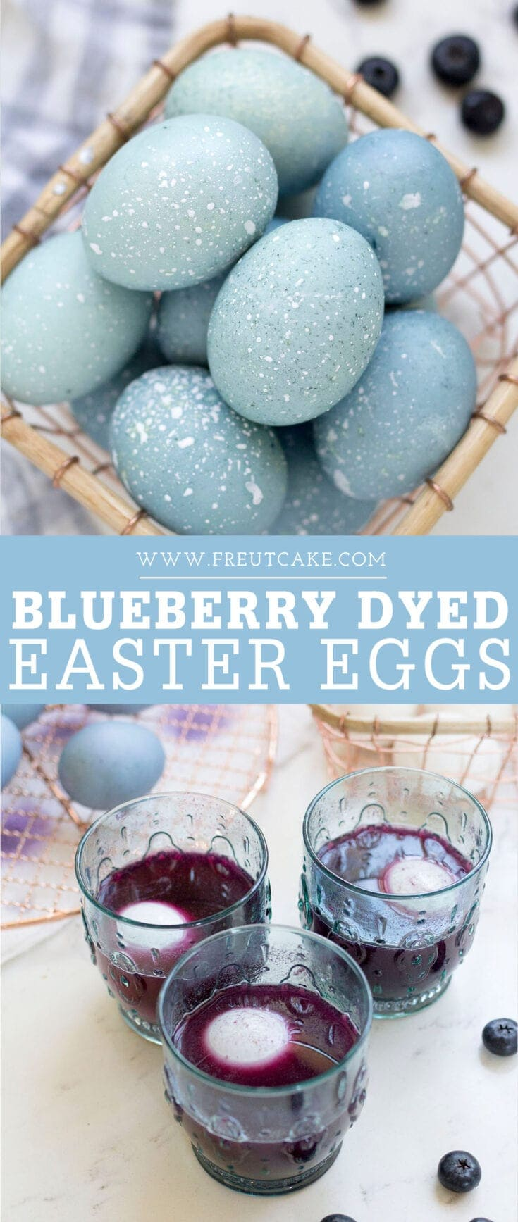 How to dye Easter eggs naturally with blueberries. #nontoxic #naturaldye #eastereggs #easter
