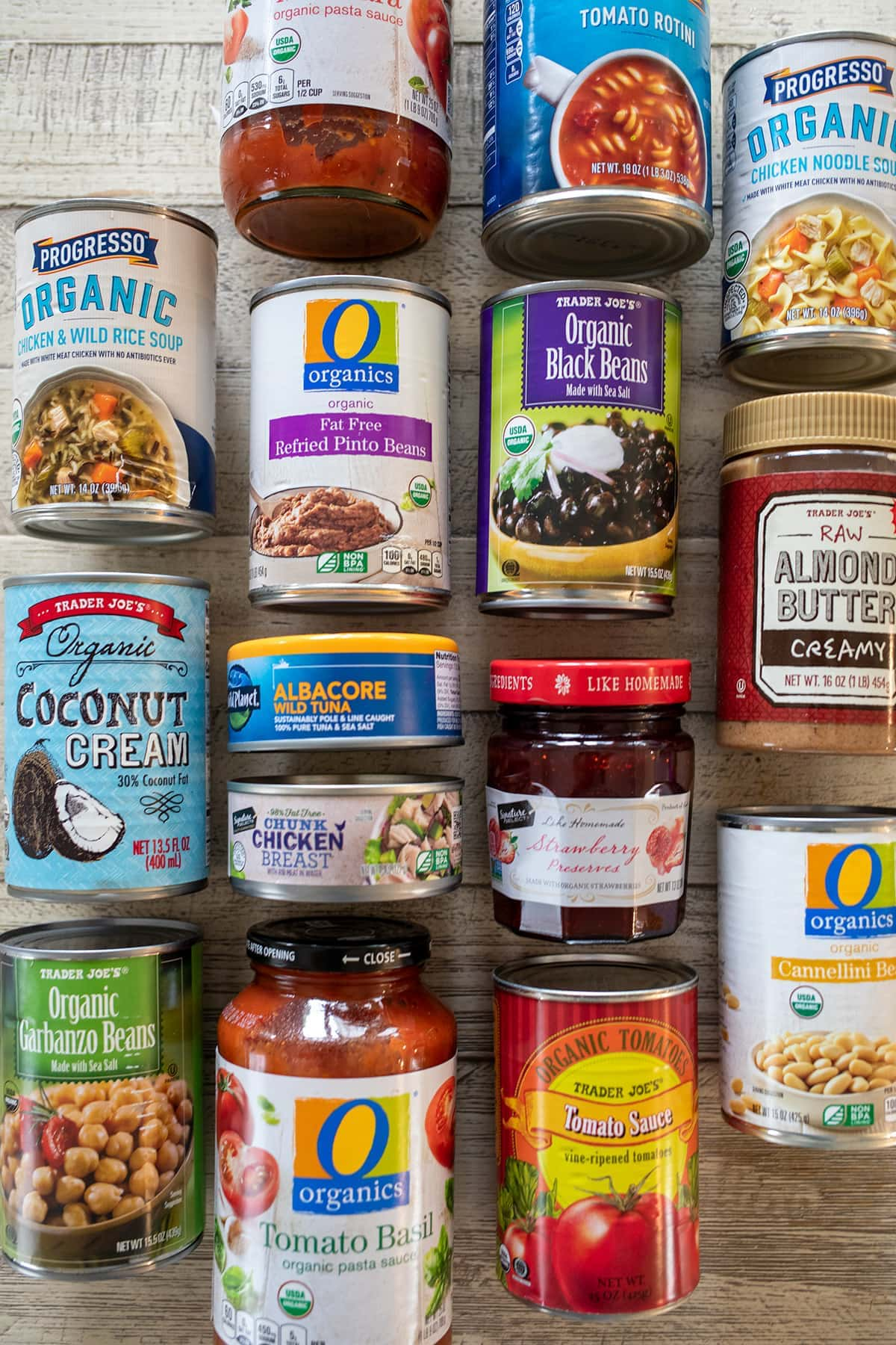 Emergency Pantry and Freezer Shopping List