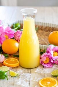 Easy Homemade Margarita Mix with Orange Liqueur