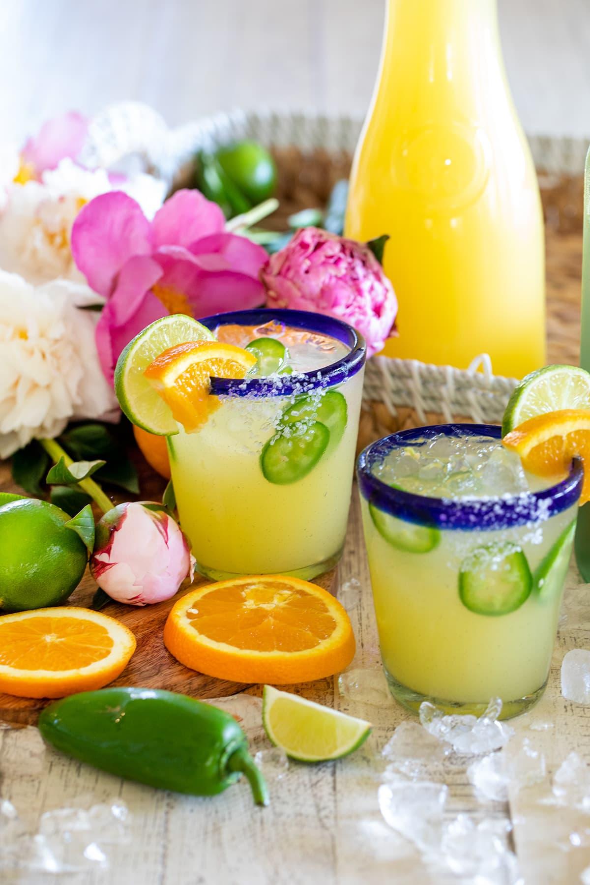 Easy Homemade Margarita Mix with Orange Liqueur