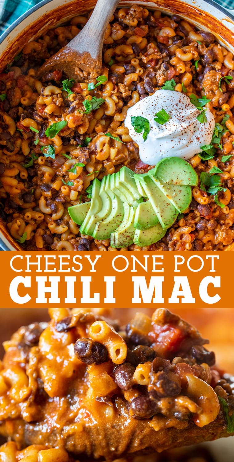 Cheesy One Pot Chili Mac