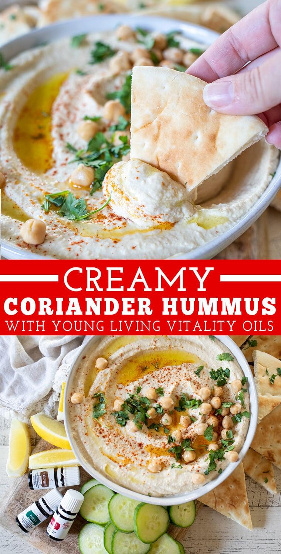 Creamy Coriander Hummus