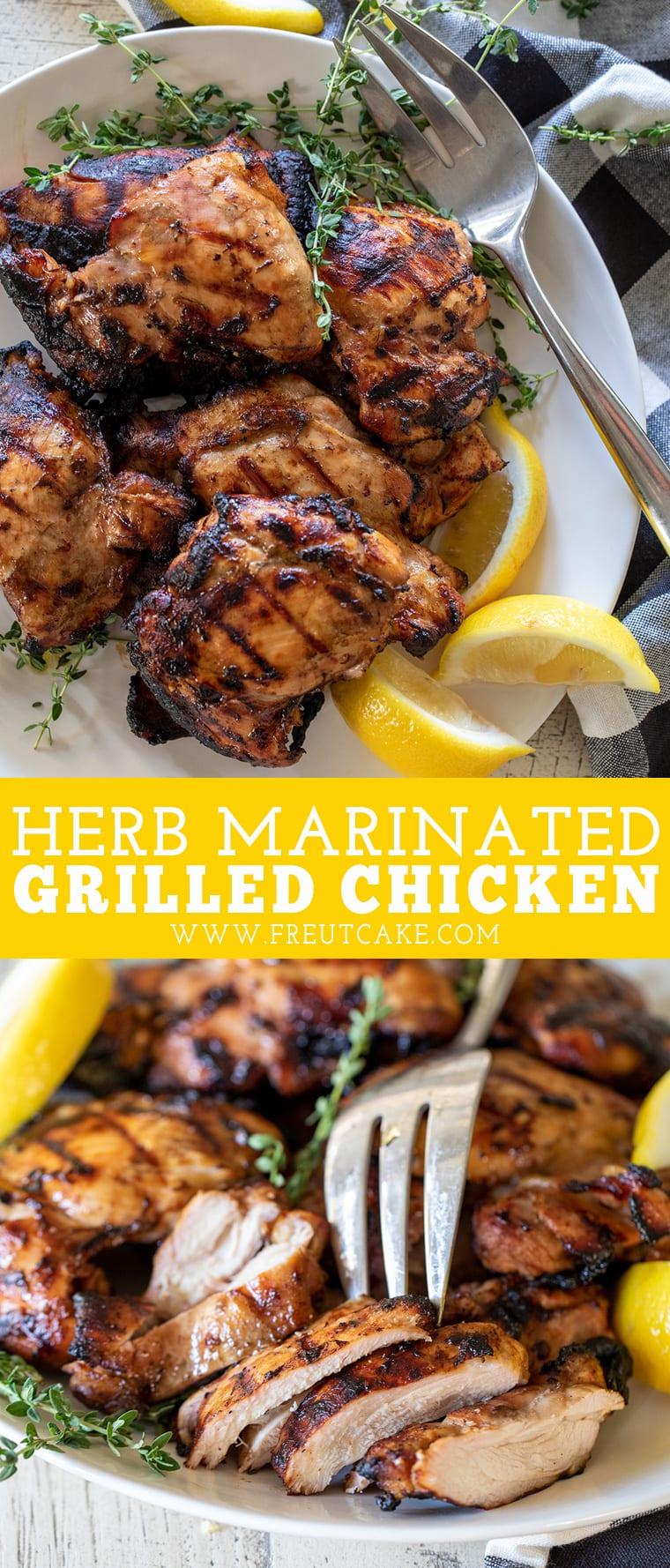 Grilled Herb Marinated Chicken