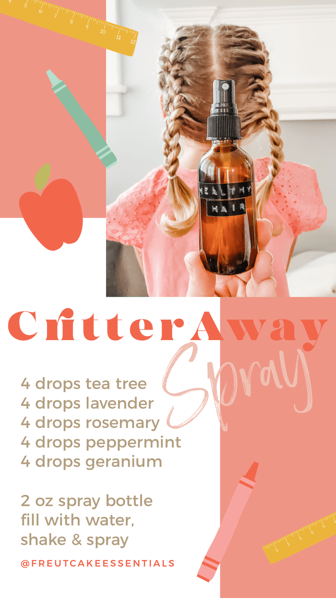 Critter Away Spray using Essential Oils