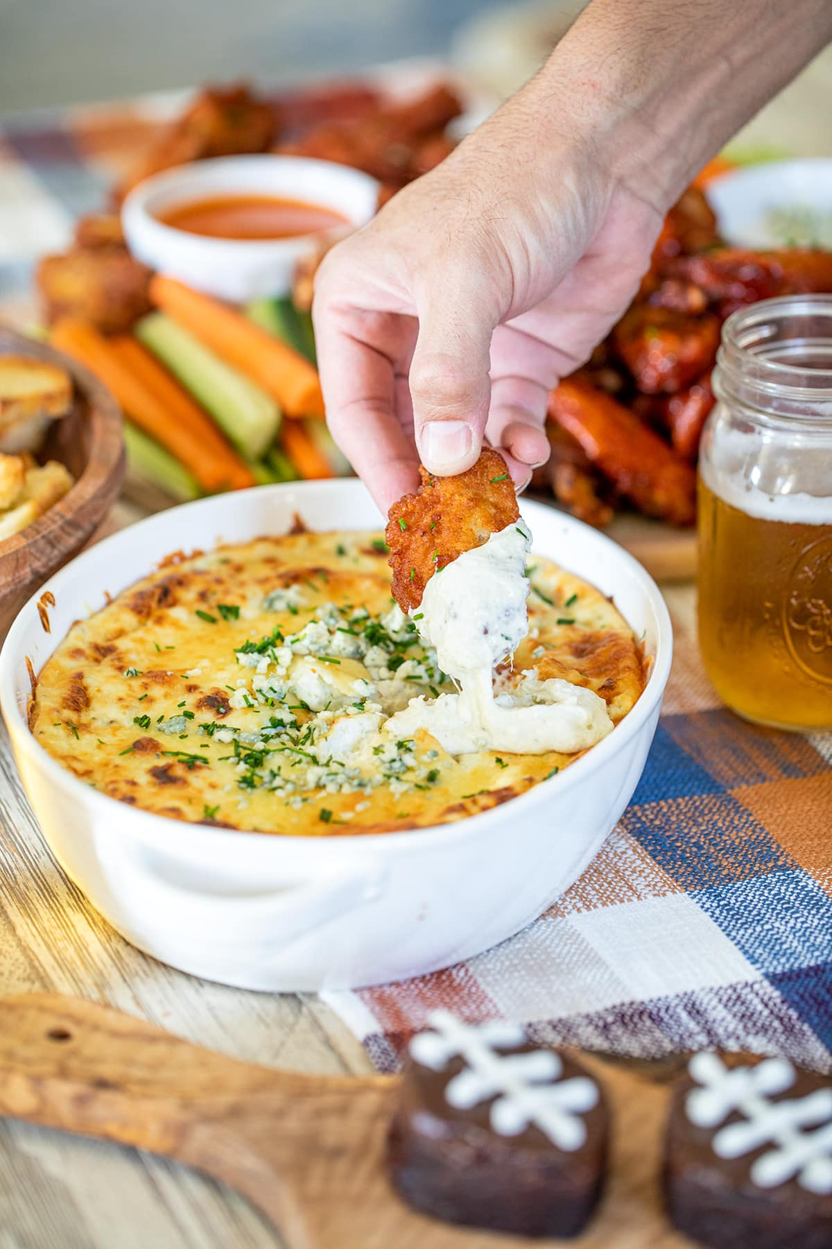 Hot Blue Cheese Dip