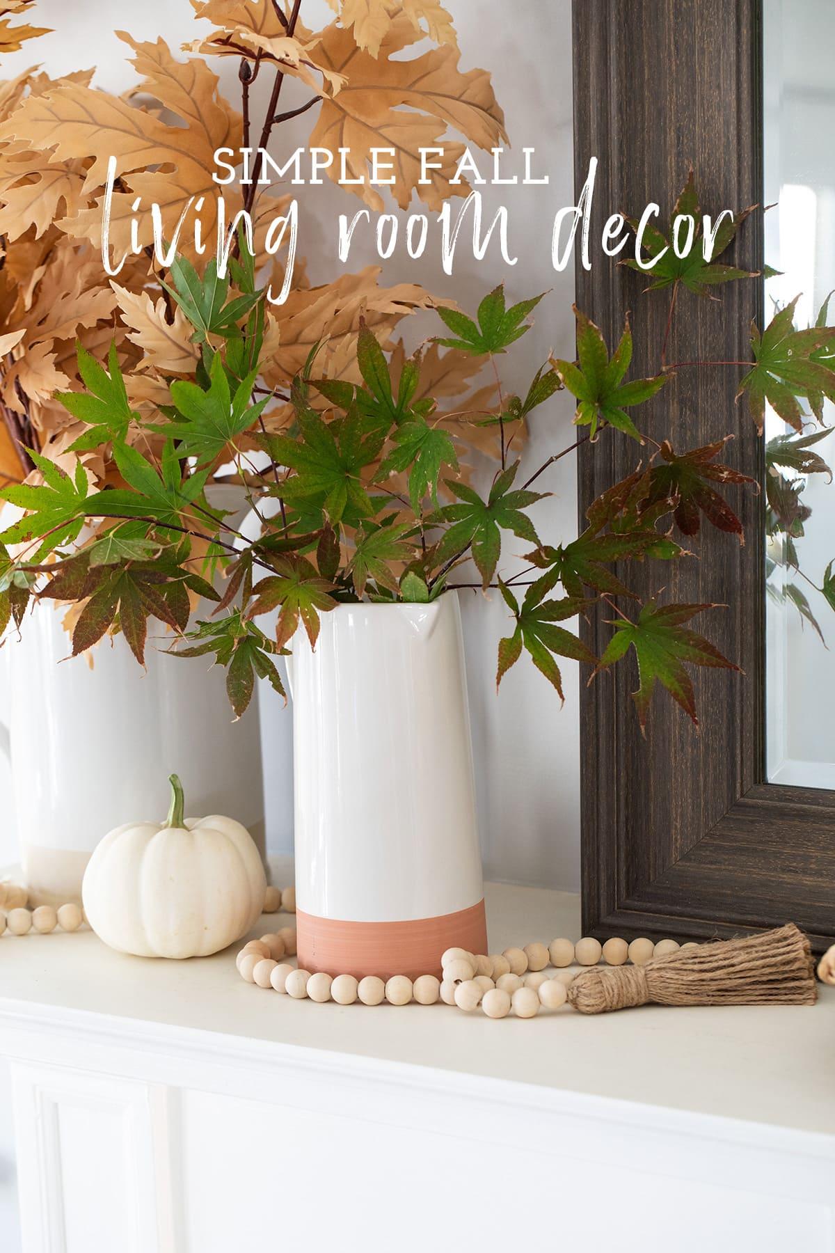 Simple Fall Living Room Decor Ideas